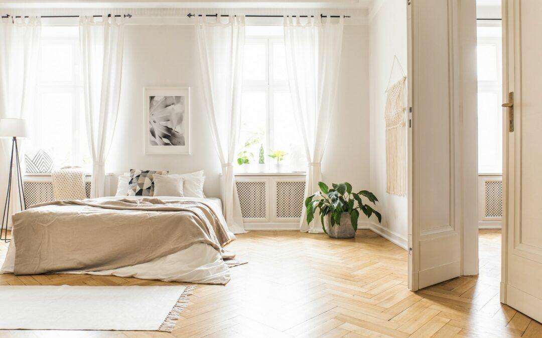 Aranżacja sypialni – firany i zasłony